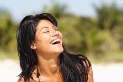 Riso da mulher Imagens de Stock