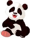 Riso da panda do bebê Foto de Stock Royalty Free