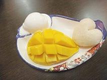 Riso del gelato del mango Fotografie Stock Libere da Diritti