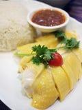 Riso del pollo del Hainan Fotografia Stock