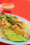 Riso del pollo di Hainanese Immagine Stock