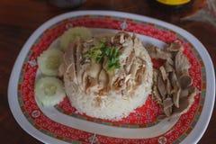 Riso del pollo di Hainanese fotografie stock libere da diritti