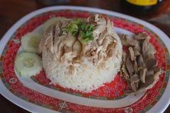 Riso del pollo di Hainanese fotografia stock libera da diritti