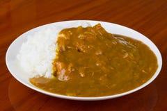 Riso di curry Fotografie Stock Libere da Diritti