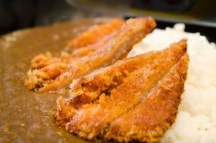 Riso di curry di Katsu Fotografia Stock
