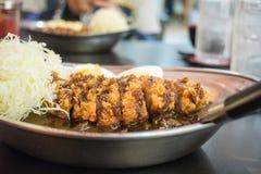 Riso di curry di Tongatsu Fotografie Stock