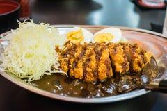 Riso di curry di Tongatsu Fotografia Stock Libera da Diritti