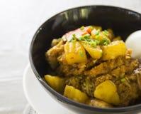 Riso di curry e della carne di maiale fotografie stock