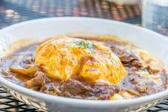 Riso di curry giapponese tradizionale Immagini Stock Libere da Diritti