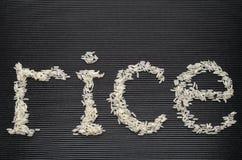Riso di parola fatto di riso Immagine Stock Libera da Diritti