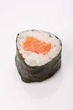 Riso di sushi, alga, rotolo di color salmone Fotografia Stock
