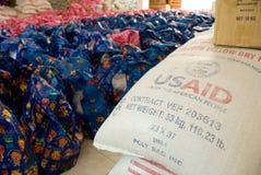 Riso di USAID Fotografia Stock