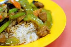 Riso di verdure mixed del vegetariano cinese fotografie stock libere da diritti