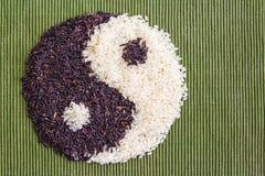 Riso di Yin yang immagine stock