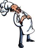 Riso do cozinheiro chefe dos desenhos animados ilustração stock