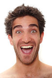 Riso do homem Fotografia de Stock Royalty Free