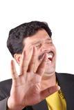 Riso do homem de negócios Foto de Stock Royalty Free
