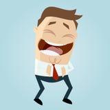 Riso do homem dos desenhos animados ilustração stock