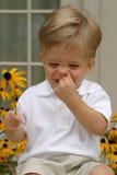 Riso do menino Fotografia de Stock Royalty Free