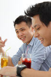 Riso dos homens Fotos de Stock