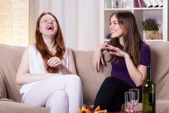 Riso dos melhores amigos Fotografia de Stock