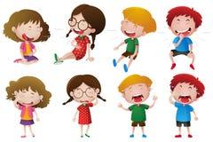 Riso dos meninos e das meninas Imagem de Stock Royalty Free