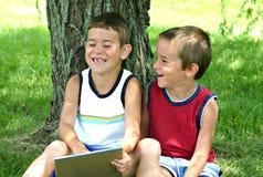Riso dos miúdos Fotos de Stock