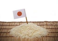 Riso e bandiera giapponesi del Giappone Fotografie Stock
