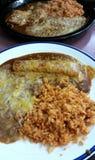 Riso e fagioli del Enchilada Immagine Stock Libera da Diritti