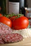 Riso e pomodori del vino Immagini Stock