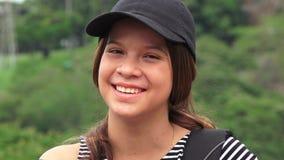 Riso fêmea feliz adolescente ou dos povos imagens de stock