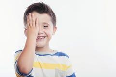Riso feliz da criança Fotos de Stock Royalty Free