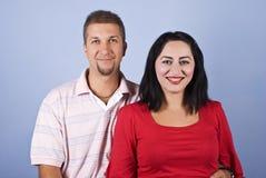 Riso feliz dos pares Fotografia de Stock