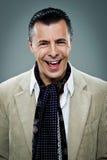 Riso feliz maduro do homem Imagem de Stock Royalty Free