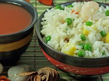 Riso fritto cinese Fotografia Stock