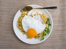 Riso fritto con l'uovo Immagine Stock