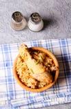 Riso fritto del pollo biryani/Hyderabadi Biriyani/e pollo fotografia stock