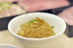 Riso fritto dell'aglio Fotografie Stock Libere da Diritti