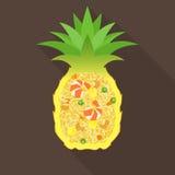 Riso fritto dell'ananas Fotografia Stock Libera da Diritti