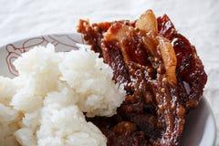 Riso fritto della carne di maiale Immagine Stock Libera da Diritti
