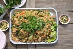 Riso fritto di stile locale tailandese delizioso dell'alimento Immagini Stock Libere da Diritti