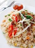Riso fritto, riso asiatico della frittura di stile Fotografia Stock Libera da Diritti