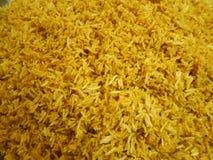 Riso giallo cucinato fotografia stock