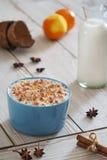 Riso, grano, cocos del latte del grano saraceno Fotografie Stock