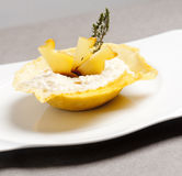 Riso italiano del risotto con il formaggio del parmigiano del provolone Fotografia Stock