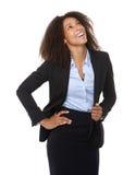 Riso novo da mulher de negócio fotografia de stock