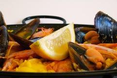 Riso spagnolo: paella immagini stock