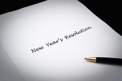 Risoluzione del nuovo anno Fotografie Stock Libere da Diritti