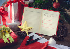 Risoluzione del nuovo anno, lista vuota Immagine Stock Libera da Diritti