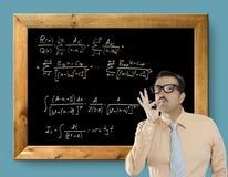 Risoluzione facile del disadattato della nullità del genio di formula matematica Fotografia Stock Libera da Diritti